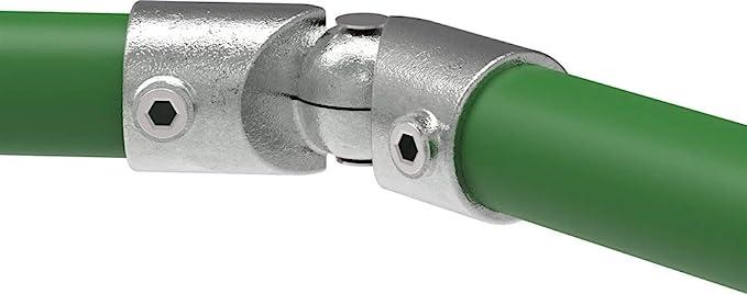 beidseitig feuerverzinkt Rohrverbinder Fenau 90/° inkl Gelenk-St/ück//Gelenk-Verbinder Schrauben Temperguss galvanisiert /Ø 26,9 mm