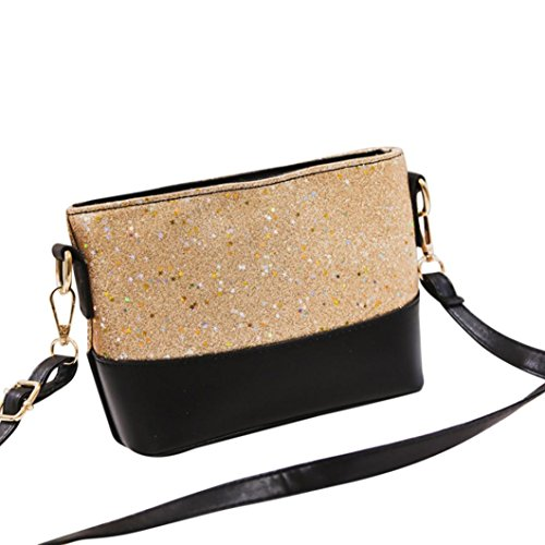 Clearance Sales Womens Girls Sequins Messenger Bags Afterso Fashion Crossbody Shoulder bags Casual Totes Purse Wallet Handbags Coin Phone Bag (22cm(L)8cm(W)15cm(H)/8.7(L)3(W)6(H)