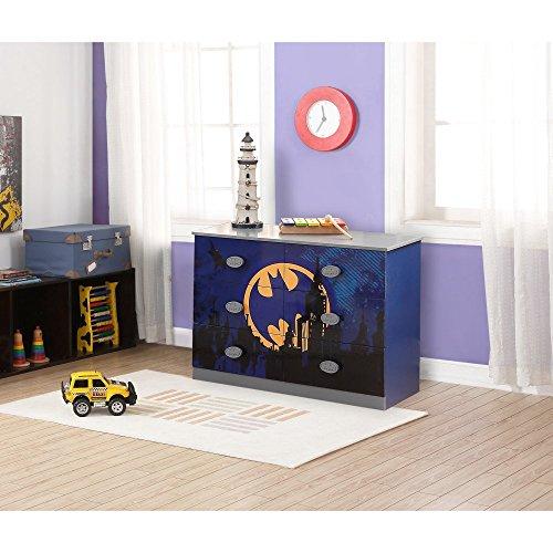 "O'Kids 0116003 Batman Dresser, 31.75"" Height, 18.75"" Wide, 44.75"" Length, Multicolor"