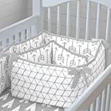 Carousel Designs Silver Gray Arrow Crib Bumper