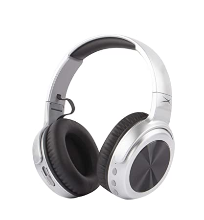 2f3e5a753bc Altec Lansing MZX701- Gry Rumble Bass Boosted Over Ear Bluetooth Headphones  with Omnidirectional Vibration,