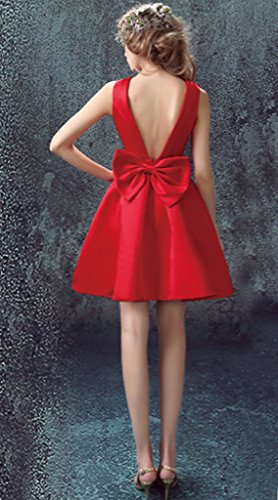 Vimans - Robe - Trapèze - Femme rouge Red