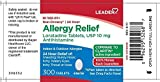 Leader Non-Drowsy Allergy Relief, 300 Tablets Each (Pack of 8)