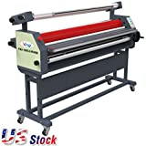 """US Stock-63"""" Full - auto Wide Format Roll Heat Assisted Cold Laminator with Stand"""