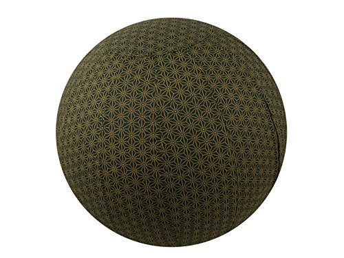 55cm Exercise Ball Cover, yoga ball cover, balance ball cover, birthing ball cover, 100% cotton - Olive Geometric