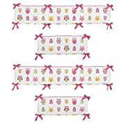 Sweet Jojo Designs Happy Owl Collection Crib Bumper
