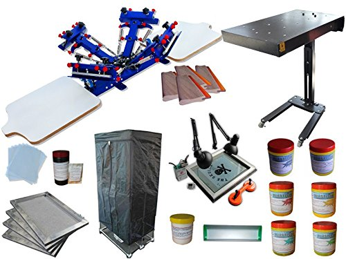 4 Color 2 Station Screen Printing Kit D