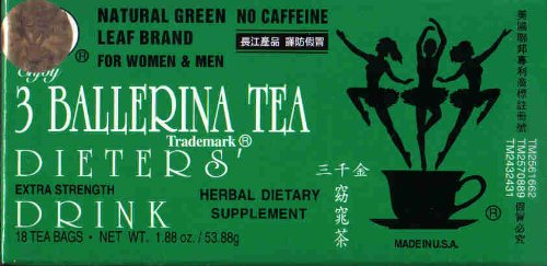 3 Ballerina Tea Dieters' Drink Extra Strength 648 Tea Bags (In 36 Boxes) ( Value Bulk Multi-pack) by Truong Giang Corp (Image #1)
