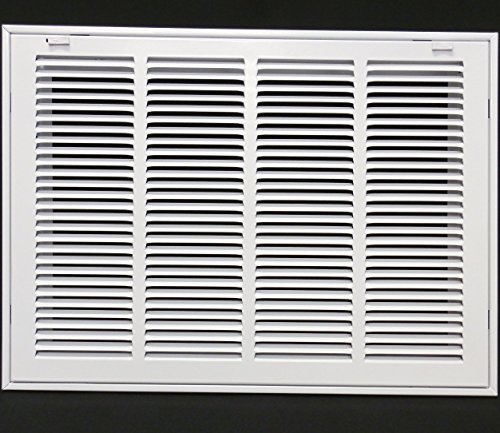 20'' X 10 Steel Return Air Filter Grille for 1'' Filter - Removable Face/Door - HVAC DUCT COVER - Flat Stamped Face - White [Outer Dimensions: 22.5''w X 12.5''h] by HVAC Premium