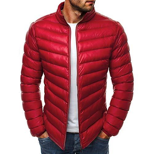 Men's Down Jacket New Winter Parkas Coat Men ATS Fashi Onable Stand Thin Warm -