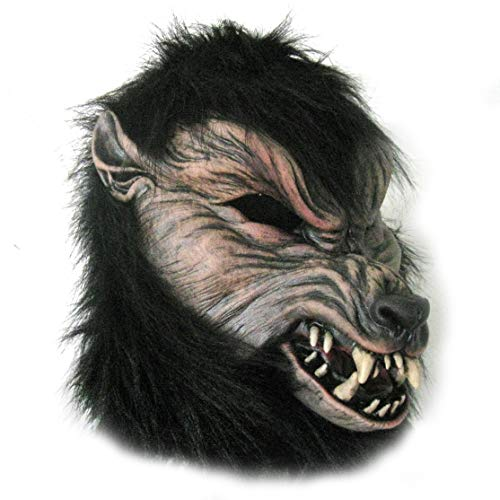 Black Werewolf Beast Wolf Howl O Ween Adult Latex Halloween Mask