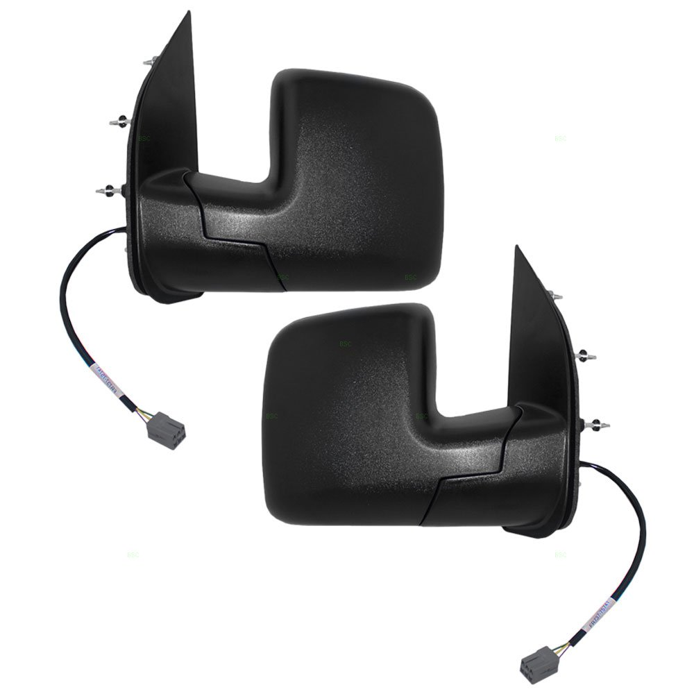 Driver and Passenger Power Side View Mirrors Dual Glass Textured Replacement for Ford Van 2C2Z17683AAB 2C2Z17682AAC