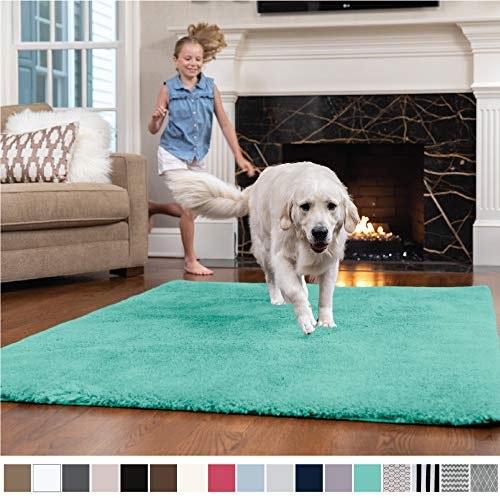 GORILLA GRIP Original Faux-Chinchilla Nursery Area Rug, (4' x 6') Super Soft & Cozy High Pile Machine Washable Carpet, Modern Rugs for Floor, Luxury Shag Carpets for Home Bed/Living Room ()