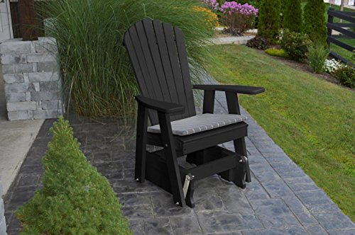 Furniture Barn USA Outdoor POLY Adirondack Gliding Chair - Black