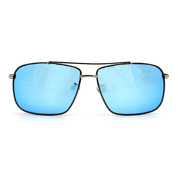 Natwve & Co Gafas de sol polarizadas rectangulares ultra livianas 100% de protección UV 60
