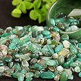 sanheng fire Aquarium Ornamental Stone Degaussing Bring Good Fortune Green Agate 2 LB Crystal Pillow
