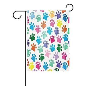 wozo huella del perro bandera de Jardín colorido huella de perro poliéster bandera al aire libre casa fiesta