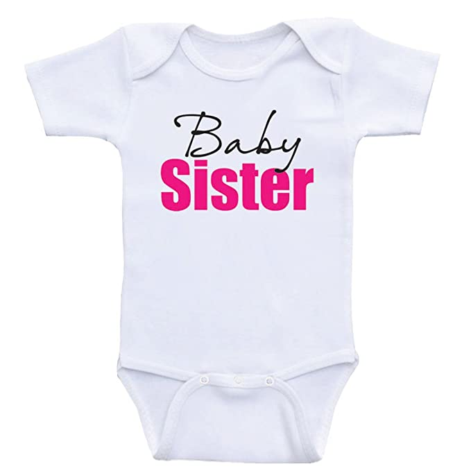 d35d68c85 Heart Co Designs Little Sister Baby Onesie Baby Sister New Sister Baby  Clothes by (3mo