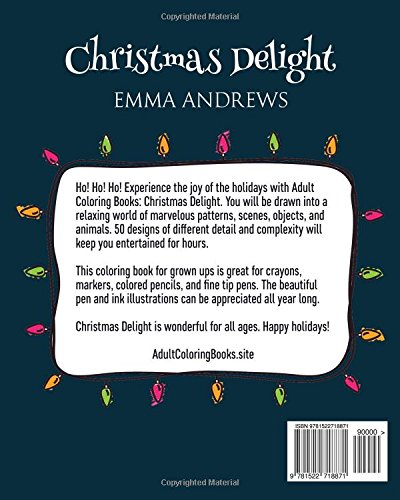 Amazon.com: Adult Coloring Books: Christmas Delight (9781522718871 ...