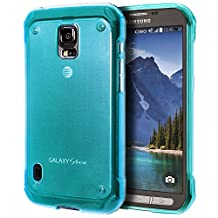 Samsung Galaxy S5 Active Case, Cimo [Grip] Premium Slim TPU Flexible Soft Case For Samsung Galaxy S 5 V Active (2014) - Blue