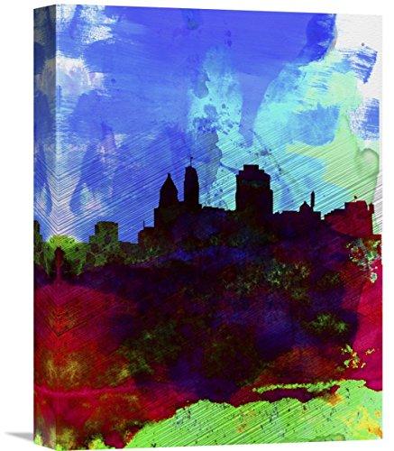 "Naxart Studio Cincinnati Watercolor Skyline - II Giclee on canvas, 12"" X 1.5"" X 16"" from Naxart Studio"