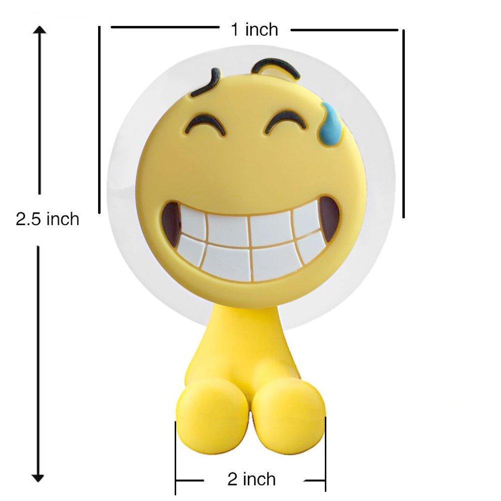 SusuTOP 5 piezas Emoji Portacepillos de dientes con una potente ventosa: Amazon.es: Hogar