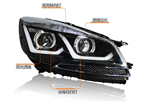 GOWE Car Styling for Ford Kuga Headlights 2013-2016 Escape LED Headlight DRL Bi Xenon Lens High Low Beam Parking Fog Lamp Color Temperature:4300K Wattage:55W 1