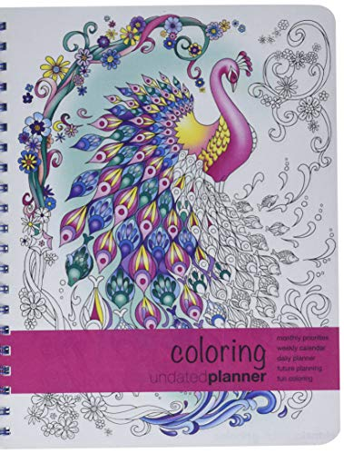 - Action Publishing Undated Coloring Day Planner (8.5 x 11 inches) Large - Weekly & Monthly Organizer, Appointment Schedule, Goals and Notes