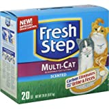 Fresh Step Scoopable Cat Litter, Multiple Cat (20 lbs - 1 Box)