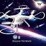 Attop W8 5G Wifi GPS FPV HD Wide Angle Camera Smart Follow Quadcopter Drone - Memory Cards ,Intelligent Return (1080P)