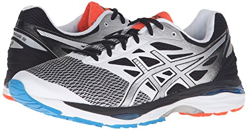 Image of the ASICS Men's Gel-Cumulus 18 Running Shoe, White/Silver/Black, 10.5 M US