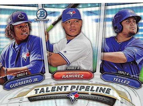 Talent Pipeline 2018 Bowman Chrome Rowdy Tellez Toronto Blue Jays Baseball Prospects Rookie Card RC #TP-TOR Vladimir Guerrero Jr.- Harold Ramirez