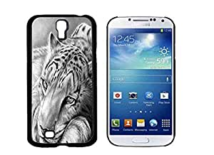 Black and White Tiger Galaxy S4 Phone Case