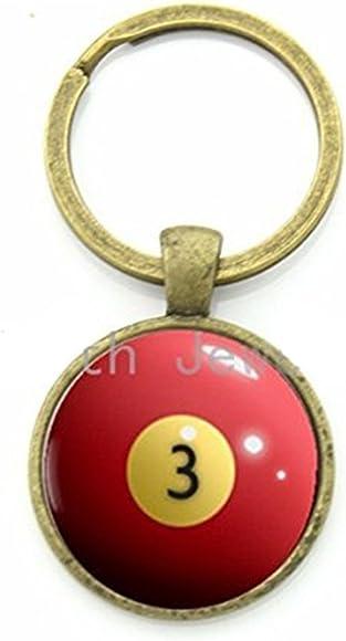 Amazon.com: Billar bola cadena rojo clave 3 Ocho Bola ...