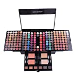 Inkach Eyeshadow Palette - 180 Colors Waterproof Makeup Palette Set Eye Shadow Powder Cosmetic Kit (Multicolor B)