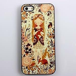 JOE Cartoon Girl Design Aluminum Hard Case for iPhone 4/4S