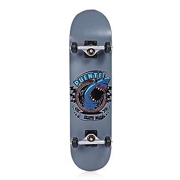 sakj-b Patineta Doble de Cuatro Ruedas para Adultos Snubby Maple Skateboard Longboard Skate Board para Entretenimiento: Amazon.es: Deportes y aire libre
