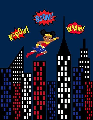 51jGZgEsQRL African American Wonder Woman Superhero Nursery Decor Set of 4 Prints - Little Girls Are Just Superheroes In Disguise