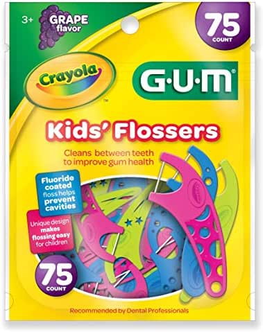 GUM Crayola Kids' Flossers, Grape