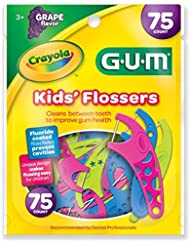 Gum Crayola Kids' Flossers, Grape, Fluoride Coated
