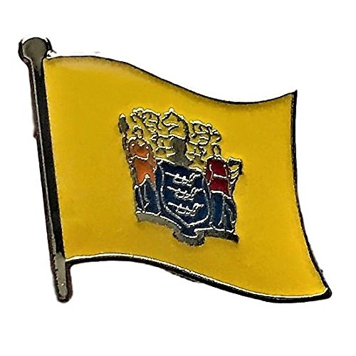 (Backwoods Barnaby New Jersey Flag State Lapel Pin (NJ, 0.75