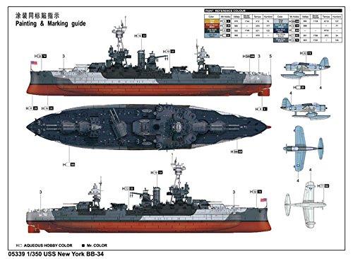 トランペッター 1/350 アメリカ海軍 戦艦 BB-34 ニューヨーク プラモデル[並行輸入品]