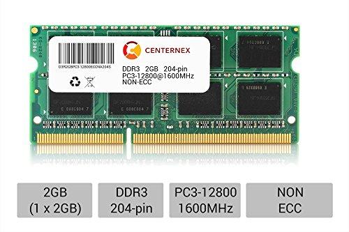 Ibm Laptop Memory Ram Notebook (2GB SODIMM DDR3 Laptop PC3-12800 12800 1600MHz 1600 204-pin Ram Memory by CENTERNEX)
