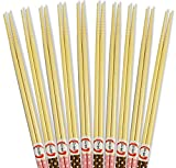 10 Pairs 13 Inches Long Cooking Bamboo Chopsticks Strong and Light for Noodle Flying & Hot pot Chopsticks