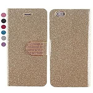 GJY Color Grain Design PU Leather Case with Card Slot and Stand for iPhone 6(Assorted Colors) , Silver