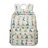 Moonwind Giraffe School Backpack for Girls Teen Book Bag Women Travel Daypacks (Giraffe, Off-white) Review