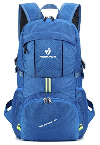 NEEKFOX Lightweight Packable Durable Travel Hiking Backpack Daypack,35L Camping