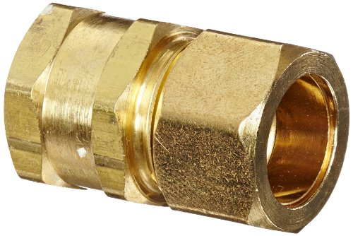 Anderson Metals 50066 Brass Compression Tube Fitting, 5/8