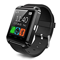 Aipker Android Smartwatch with Bluetooth Compatible For Samsung Huawei Sony LG HTC Lenovo And Other Android Smartphones (Black)