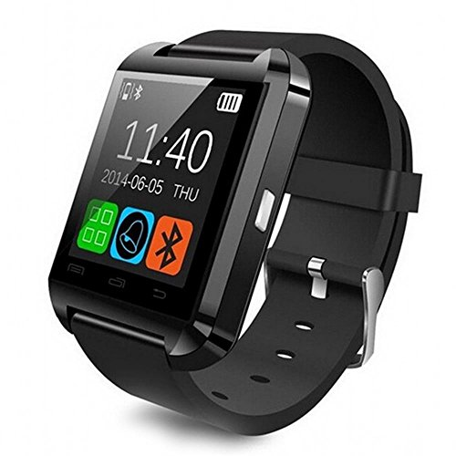 Aipker Android Smart Watch Bluetooth Smartwatch For Samsung Huawei Sony LG HTC Lenovo Android Smartphones Black